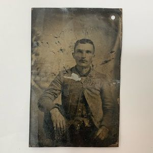 Other - Antique Victorian/Edwardian Man Tintype Photograph